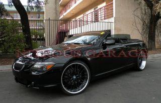 22 MRR GT1 Wheels Black BMW 7 Series 745 750 E65 E66 Staggered Mesh
