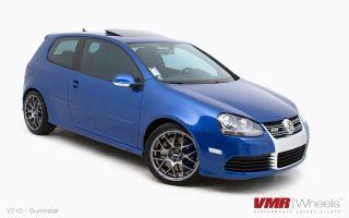19x8 5 VMR 710 Staggered Gun Metal Wheel 5x112 Fit Audi A3 TT VW Golf