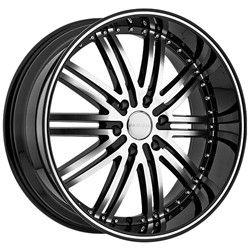 20 inch Menzari Z08 Black Wheels Rims 5x120 35 Acura TL MDX cts GTO G8