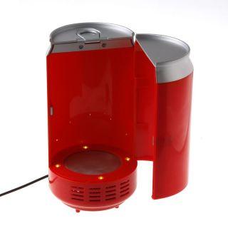 Red Mini USB Fridge Beverage Drink Cans Cooler Warmer Refrigerator for