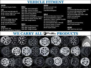 Fuel Hostage 20x10 Black Wheels All Trucks SUV Qty 4 Wheels