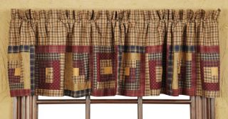Millsboro Country Log Cabin Quilt Twin Queen Cal King Valance Tan
