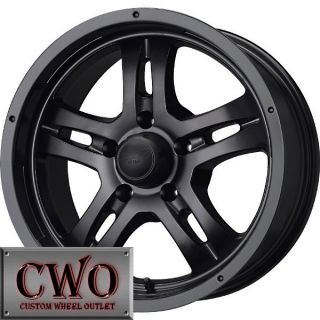 17 Black MB Gunner 5 Wheels Rims 5x114 3 5 Lug Jeep Wrangler Ranger