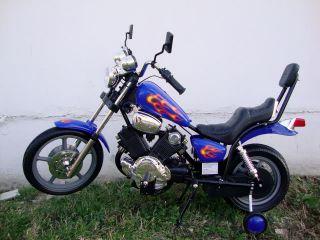 Harley Ride on Motorcycle Wheels Blue Electric Bike 4 MPH 6V