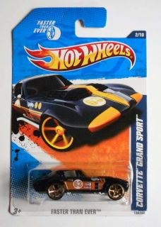 HOT WHEELS 2010 #130 FASTER THAN EVER CORVETTE GRAND SPORT K MART CLR