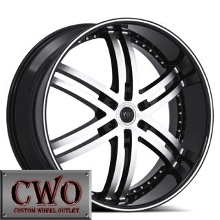 24 Black Status Knight 6 Wheels Rim 6x139 7 6 Lug Chevy Tahoe Escalade