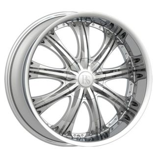 26 Red Sport RSW 33 Chrome Wheel 26x10 Chevrolet Cadillac Ford
