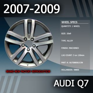 2007 2009 Audi Q7 OEM Factory 20 Inch Alloy Wheel Replacement Rim