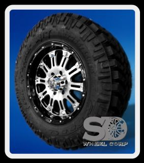 GLOSS BLACK AND MACHINED WHEELS W/ NITTO TRAIL GRAPPLER TIRES AND LUGS