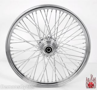 21x2 15 Chrome Custom Front Wheel 60 Spokes Billet Hub Rim Fit Harley