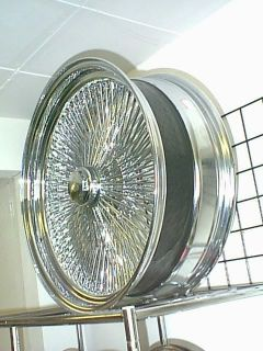 22 Spoke Chrome Wire Rims Lowrider Wheels 14 17 18 20