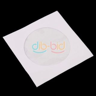 Mini 100 Pcs Protective White Paper CD DVD Disc Storage Bag Case