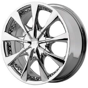15 inch 15x7 Helo HE827 Chrome Wheels Rims 4x100 4 Lug