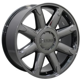 20 Fits GMC   Denali Style Wheel Rim Black Chrome 20x8.5 Cadillac