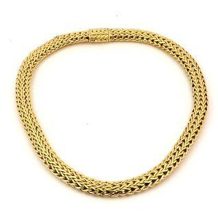John Hardy 18K Solid Gold Mesh Woven Necklace Designer 240grams 750 18