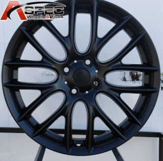 17x7 J Cooper Work Style Matt Black 4x100 Wheel Rim Fits Mini Cooper s