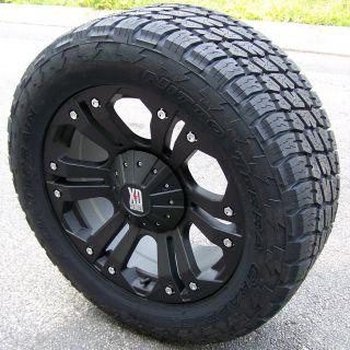 18 Black XD Monster Wheels 33 Nitto Terra Grappler Tires Jeep Wranler