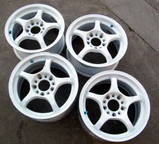 Used JDM 15 A Tech Racing Rims EP3 EG6 DC2 Mr 2 RSX
