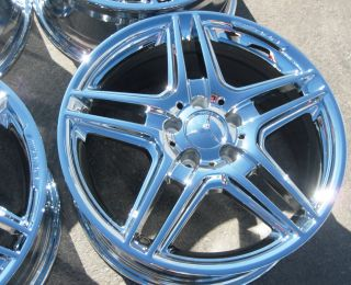 STOCK  2011 12 18 FACTORY MERCEDES AMG E350 E550 CHROME WHEELS RIMS