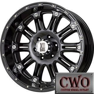 17 Black XD Series Hoss Wheels Rims 8x165 1 8 Lug Chevy GMC Dodge 2500