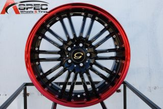18x8 G Line G820 Wheel 5x110 38 Black Red Rim Fits Malibu G5 G6 Aura