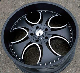 KMC Venom 755 24 Black Rims Wheels Dodge RAM 1500 Pickup