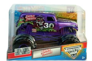 2012 Hot Wheels Monster Jam Monster Truck Grave Digger 30th Purple