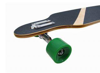 42 inch Drop Through Complete Longboard Speed Skateboard Skull Graphic