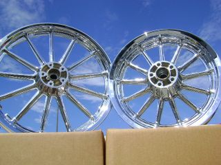 Harley Sportster Dyna Chrome Wheels Rims 9 or 13 Spoke