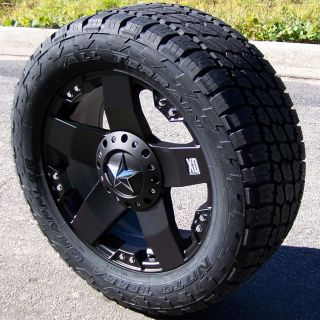 20 XD ROCKSTAR WHEELS & NITTO TERRA GRAPPLER TIRES 8 LUG CHEVY FORD