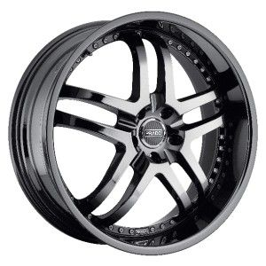 18 inch Staggered Prado Dante Phantom Black Wheel Rim 5x112 32