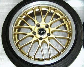 Axia 18 8 5J 9 5J 5x114 Gold Alloy Rims Wheels R32 r33 R34 RX7 Lancer