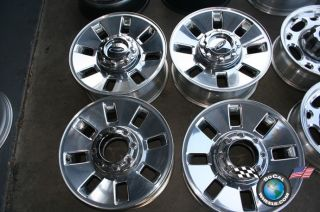 Ford F250 F350 Factory 18 Polished Wheels OEM Rims 3689 7C34 1007 BA