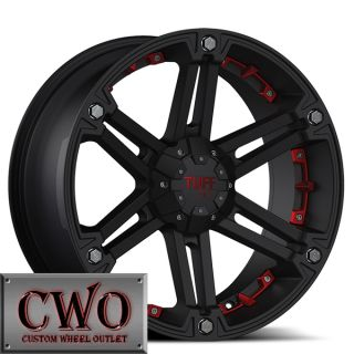 17 Black Tuff T 01 Wheels Rims 5x114 3 5x127 5 Lug Jeep Wrangler