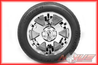 GMC YUKON DENALI SIERRA CHEVY TAHOE CHROME WHEELS COOPER TIRES CAPS 17