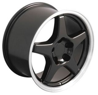 17x9 5 Fits Camaro Corvette ZR1 Wheels Rims Tires Black