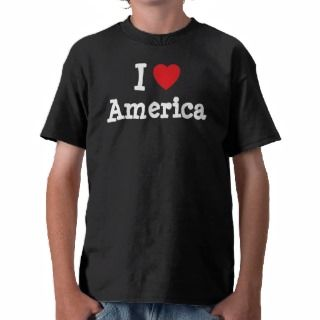love America heart T Shirt