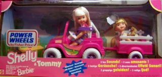 Features of Barbie   Kelly & Tommy Power Wheels Jeep & Wagon Motorized