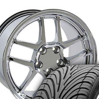 17x9 5 Z06 Wheels Rims Tires Chrome Fit Camaro Corvette