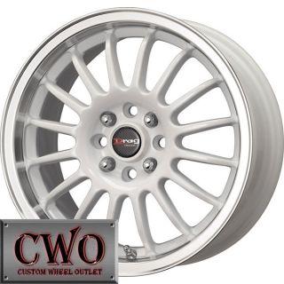 15 White Drag Dr 41 Wheels Rims 4x100 4 Lug Civic Mini Miata Cobalt XB