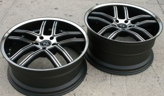 INTAKE 20 BLACK RIMS WHEELS FIREBIRD STAGGERED/ 20 X 8.5/10 5H +35