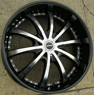 SOLE 202 22 BLACK RIMS WHEELS DODGE CHARGER V6 HEMI / 22 X 9.5 5H +18