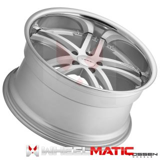 20 Vossen 85 20x9 10 5 5x114 38 45 Silver Machined Wheels Rims