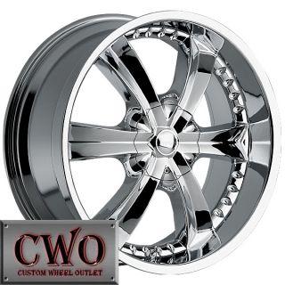 22 Chrome Cattivo 726 Wheels Rim 5x127 5x139 7 5 Lug Jeep Wrangler