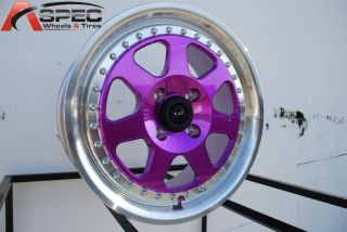 ROTA J MAG 4X100 +40 ROYAL CANDY TONE PURPLE WHEEL FITS CIVIC INTEGRA