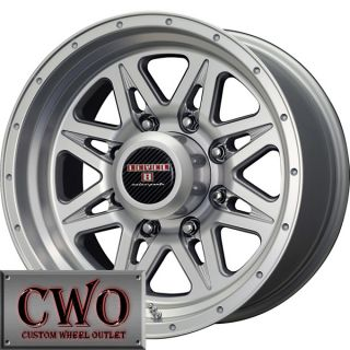 16 Silver Level 8 Strike 8 Wheels Rims 8x170 8 Lug Ford F250 F350