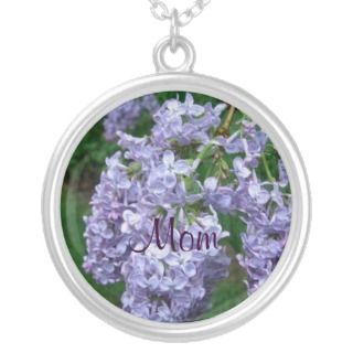 Lilacs for Mothers Day Custom Necklace
