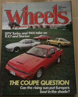 Wheels 1982 09 Mazda RX7 Mitsubishi Starion Porsche 944 Alfa GTV