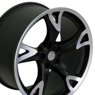 Nissan Matte Black 370Z Wheels 20x10 20x8 5 nismo Set of 4 Rims