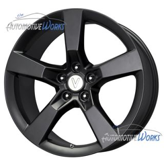 Replica Camaro SS 5x120 35mm Matte Black Wheels Rims inch 20